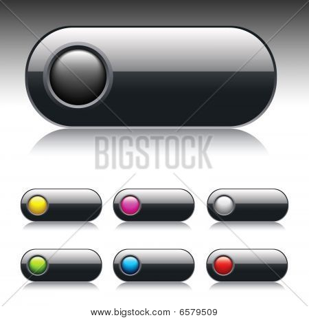 Dark glossy vector button