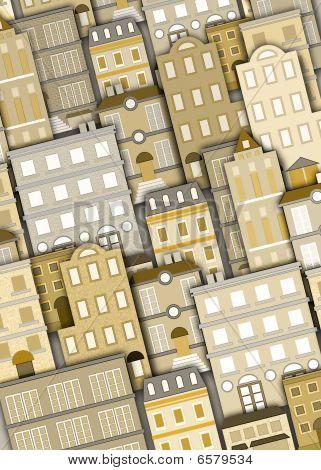 Fundo de prédios urbanos