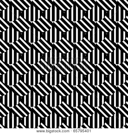 Seamless op art texture. Vector art.