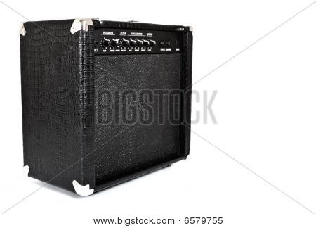 Amplificador de guitarra preto