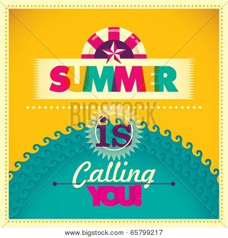 Colorful summer background. Vector illustration.