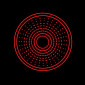picture of gamma  - Abstract Red Gamma Led Light Alarm Science - JPG