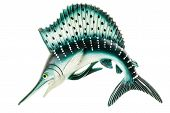 picture of swordfish  - a small swordfish fridge magnet made in plastic and isolated over white - JPG