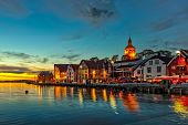 pic of roof-light  - Stavanger at night  - JPG