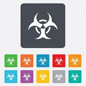 pic of biohazard symbol  - Biohazard sign icon - JPG