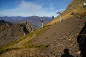 picture of sochi  - chair lift in the mountains of Krasnaya Polyana  - JPG