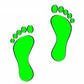 pic of carbon-footprint  - black footprint  - JPG