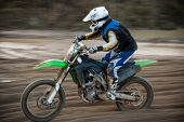 picture of motocross  - Motocross bike in a race - JPG