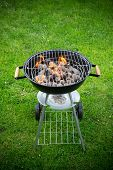 stock photo of braai  - Grill on the garden - JPG