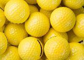 picture of shooting-range  - driving range golf balls  - JPG