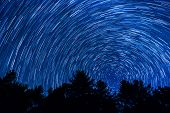image of north star  - Star Trail over the Blue Ridge Mountains in North Carolina - JPG