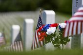 picture of coast guard  - veterans cemetery memorial celebration with American Flag - JPG