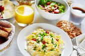image of scrambled eggs  - Fresh breakfast food - JPG