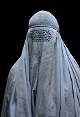 foto of burka  - Close up of burqa tradition of Muslim women - JPG