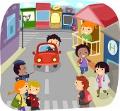 foto of kiddie  - Illustration of Little Kids Running Their Own Community - JPG