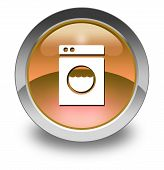 picture of laundromat  - Icon Button Pictogram Image Illustration with Laundromat symbol - JPG