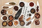 picture of chinese calligraphy  - Acupuncture needles - JPG