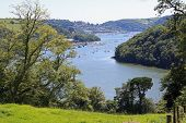 stock photo of dartmouth  - looking down on the River Dart in Devon
