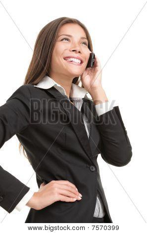 geschäftsfrau auf Handy