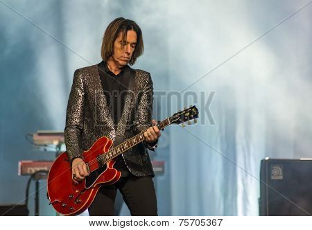 RUSSIA - OCT 30: Per Gessle (Roxette) performs on October 30,2014 in Khabarovsk