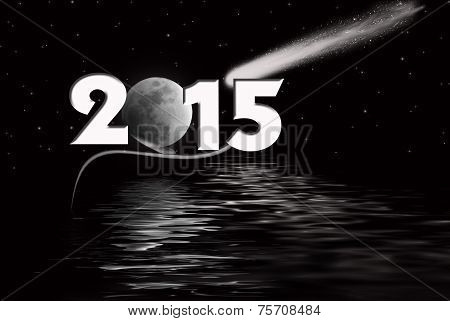 New Year 2015 Moon
