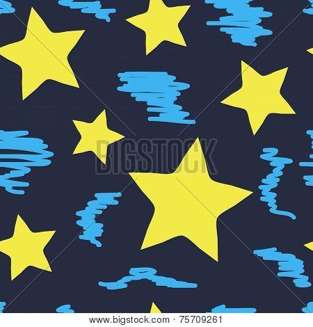 Curve stars seamless texture