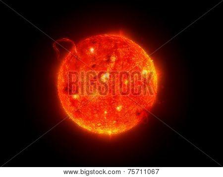 solar system - sun