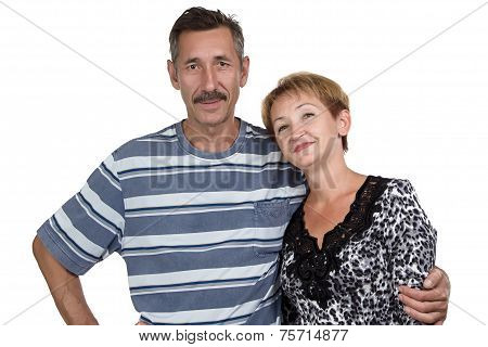 Photo of the happy old man and woman