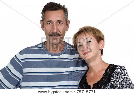 Image of the happy old man and woman