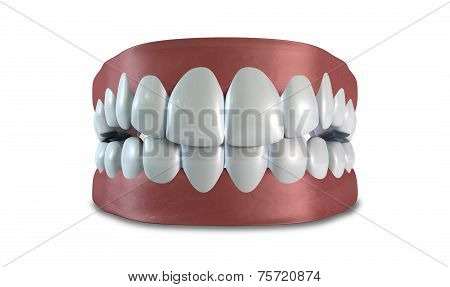 Teeth Set Closed Isolated