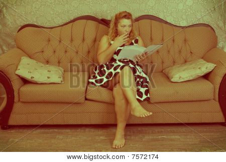 Vintage Woman Reading
