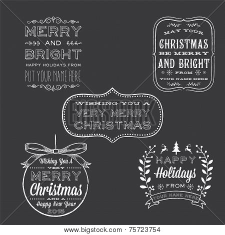 Holiday Chalkboard Greetings