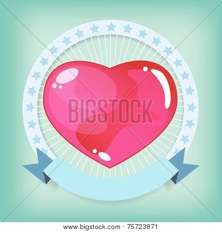 Heart jelly in ribbon