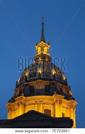 Cupola Of Invalides,  Paris, Ile-de-france, France