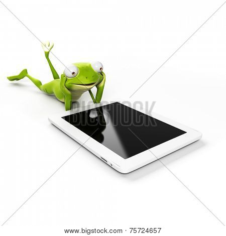3d rendered illustration of a funny frog