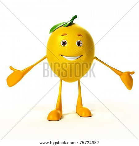 3d rendered illustration of a lemon character