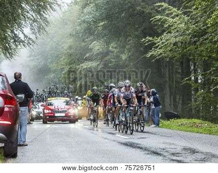 The Peloton In A Misty Day