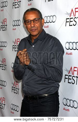 LOS ANGELES - NOV 8:  Abderrahmane Sissako at the AFI FEST 2014 Photocall at the TCL Chinese 6 Theaters on November 8, 2014 in Los Angeles, CA