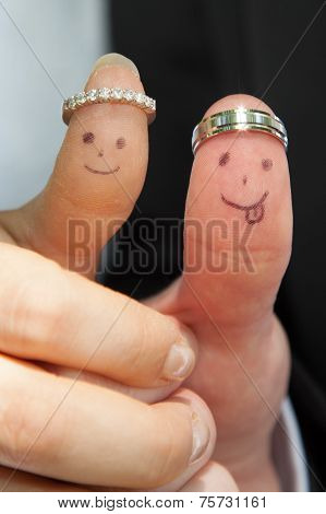 Fingertips With Smiley Faces