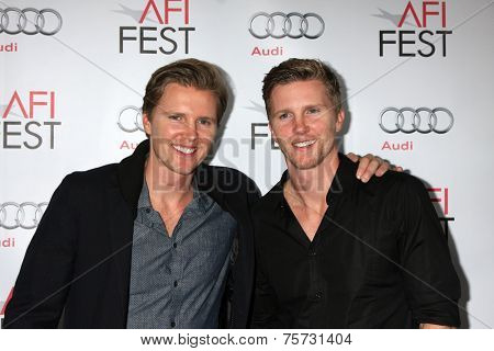 LOS ANGELES - NOV 8:  Trent Luckinbill, Thad Luckinbill at the AFI FEST 2014 Photocall at the TCL Chinese 6 Theaters on November 8, 2014 in Los Angeles, CA