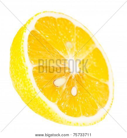 Juicy Ripe Slice Of Lemon