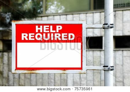 Help Required Sign