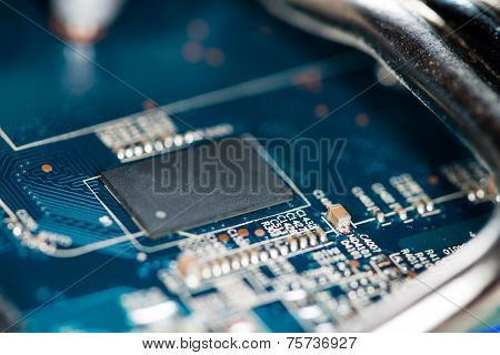 Chips On A Blue Pcb