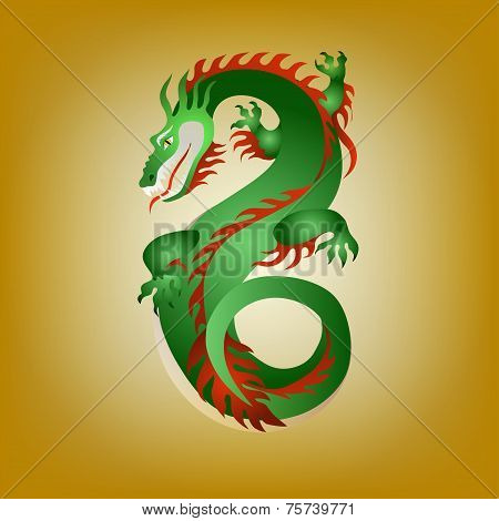 Fantastic Green Dragon