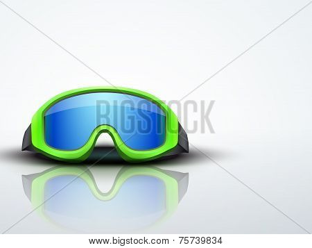 Light Background with pink ski goggles. vector illustration