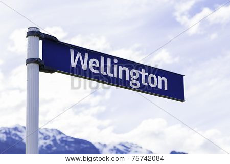 Wellington sign in New Zealand