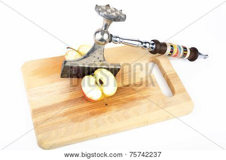 Apple Cleft With Kitchen Axe
