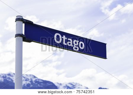 Otago sign in New Zealand