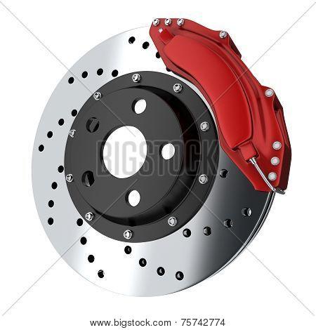 Red car brake