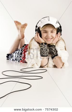 Listening To Music With Earphones